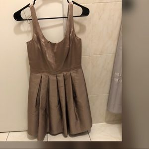 taupe formal dress
